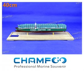 40cm China Shipping Diecast Alloy Container Ship