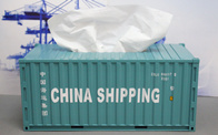 China Shipping Tissue Container
